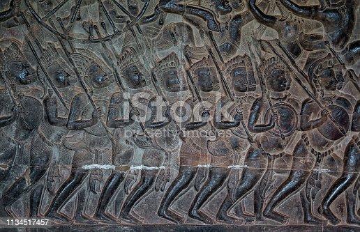 1147569123istockphoto Warriors - bas relief in Angkor Wat 1134517457