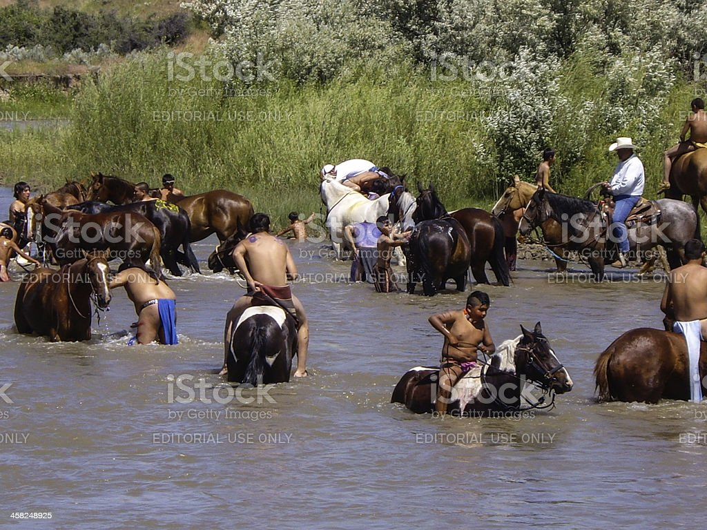 Warriors cool off after the battle royalty-free stock photo