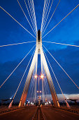 Swietokrzyski bridge - the most beautiful modern bridge in Warsaw, the capital of Poland.