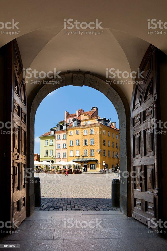 Warsaw, Castle Square stock photo