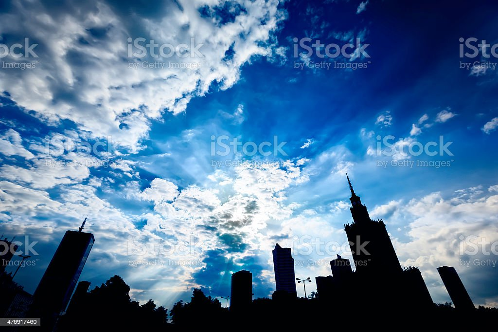 Warsaw centre royalty-free stock photo