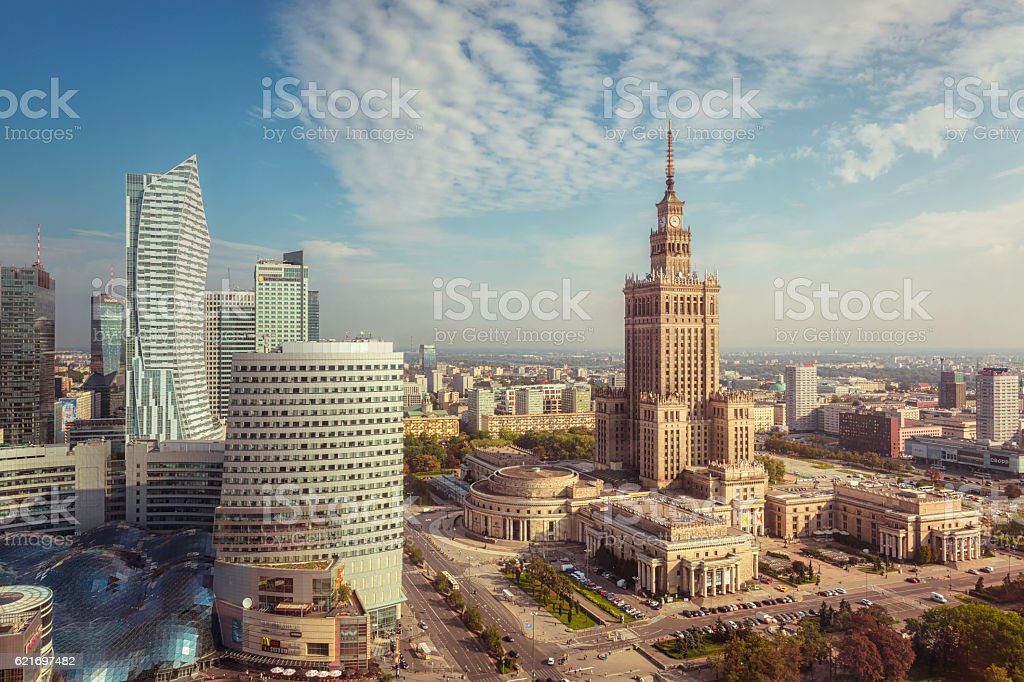 Warszawa centrum stock photo