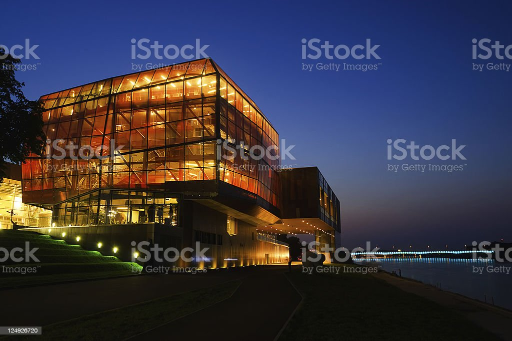 Warsaw - Copernicus Research Center stock photo