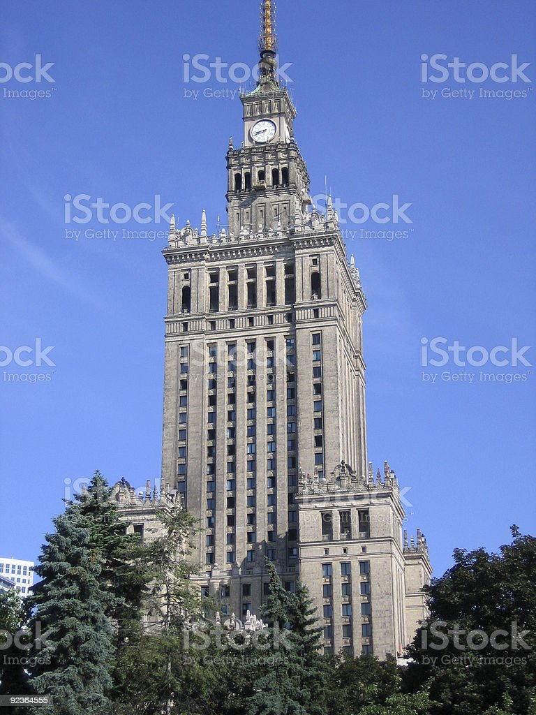 Warsaw culture and science palace royalty-free stock photo