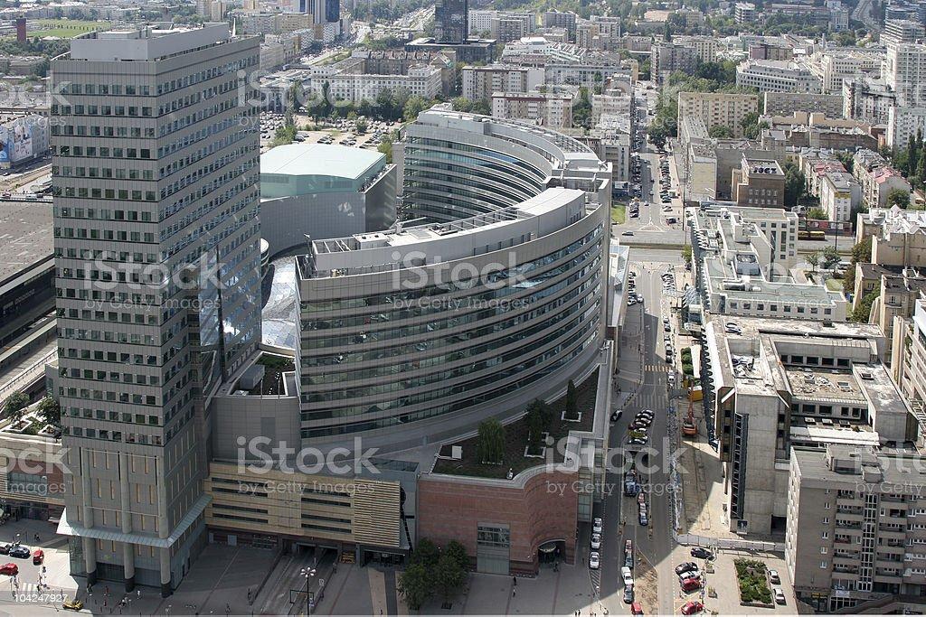 Warsaw downtown royalty-free stock photo