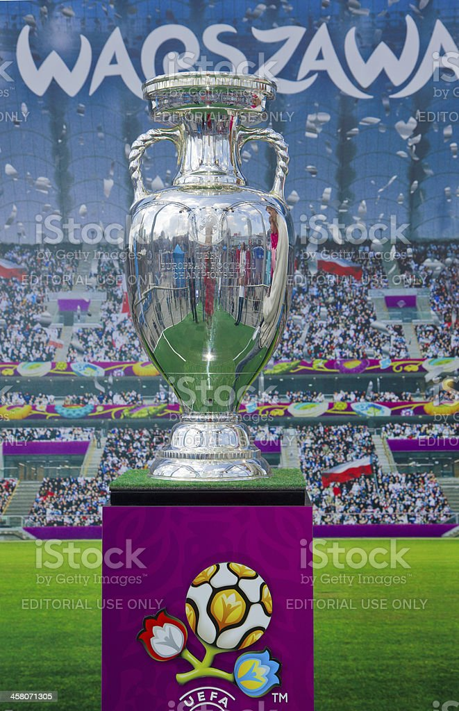 Warsaw greeting eurocup 2012 stock photo