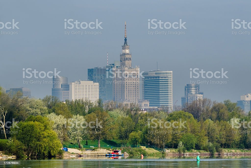 Warsaw in spring royalty-free stock photo