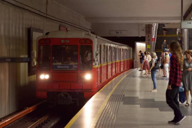 Warsaw Metro stock photo