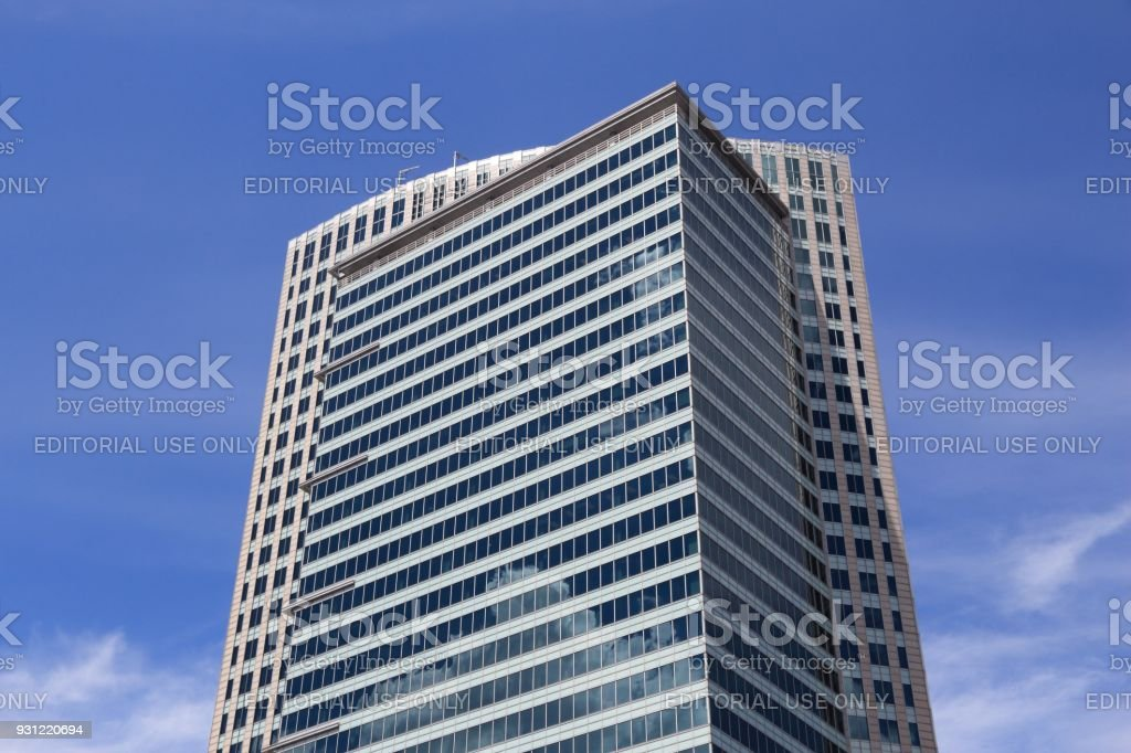 Warsaw office building stock photo