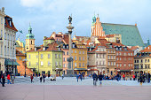 Central square of Warsaw, capital of Poland