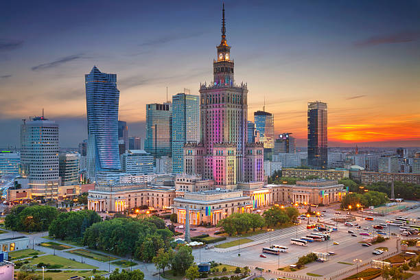 warsaw. - poland stock photos and pictures