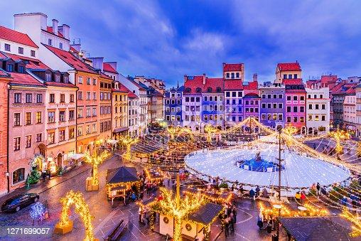 istock Warsaw, Poland - Christmas Market 1271699057