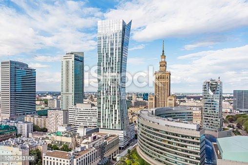 istock Warsaw, Poland- city panorama. 1267343166