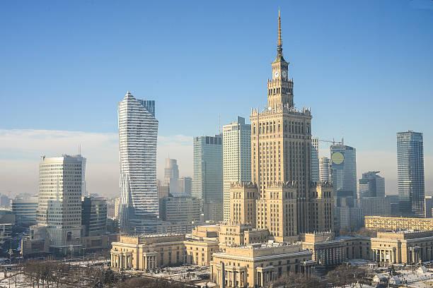 Die skyline von Warschau, Polen – Foto