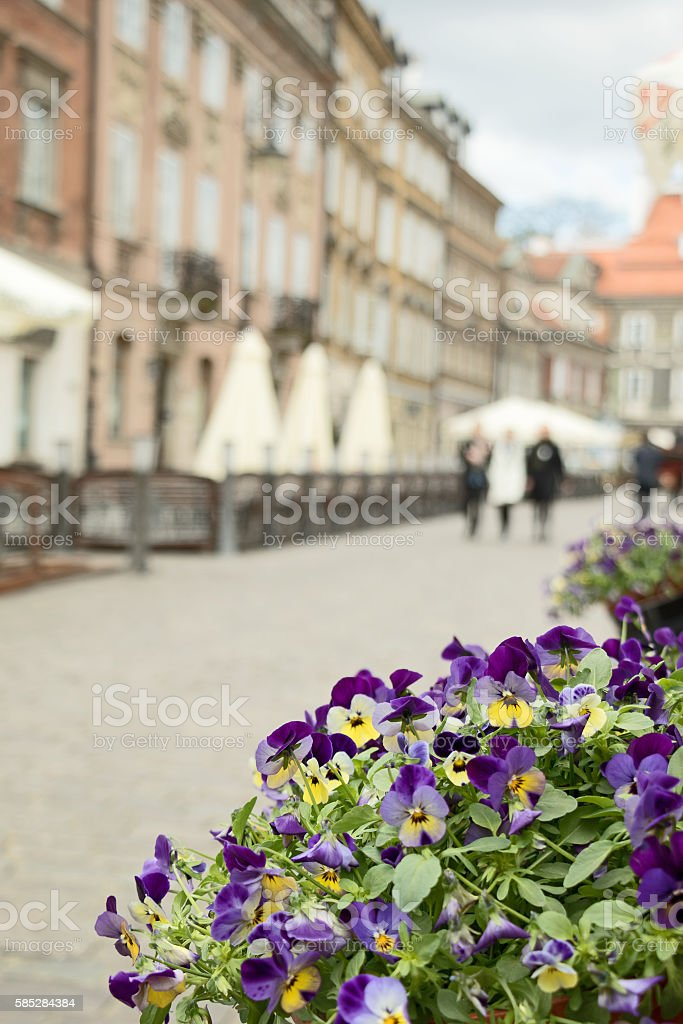 Warsaw Street stock photo