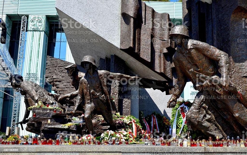 ワルシャワ蜂起記念碑 - 2015年のロイヤリティフリーストックフォト