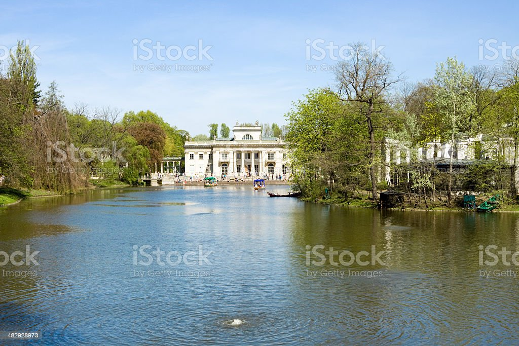 Warsaw View Of The Lazienki Royal Park Stock Photo More