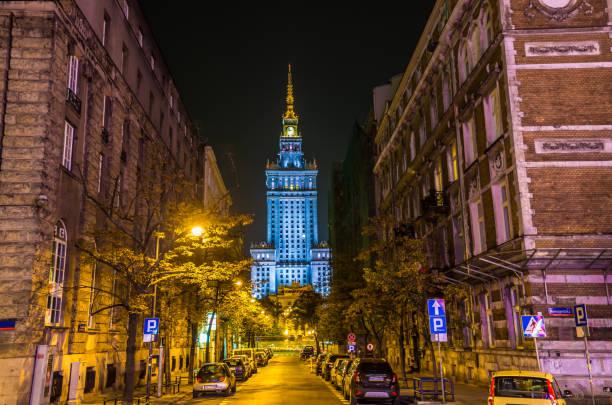 Warsaw with Palast der Kultur und Wissenschaft – Foto
