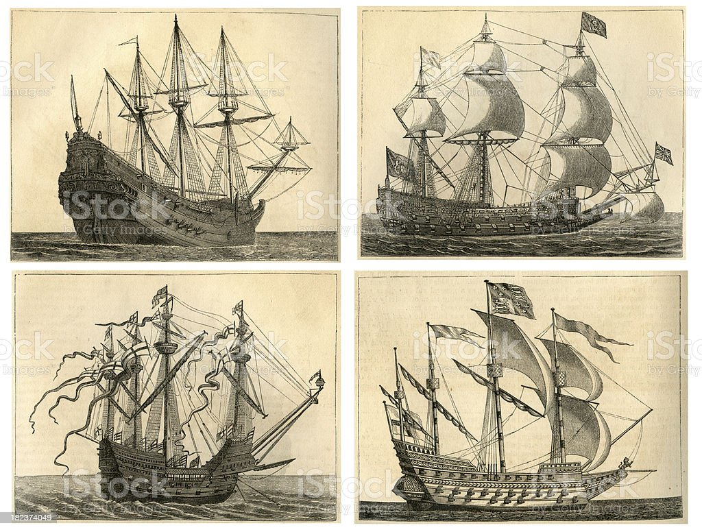 Warships Collection stock photo