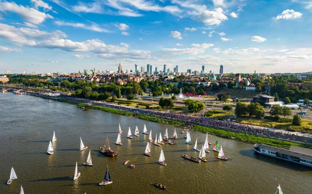 Warszawa Zdjęcie Warszawy z powietrza sailing dinghy stock pictures, royalty-free photos & images