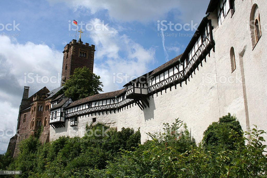 Wartburg - medieval castle stock photo