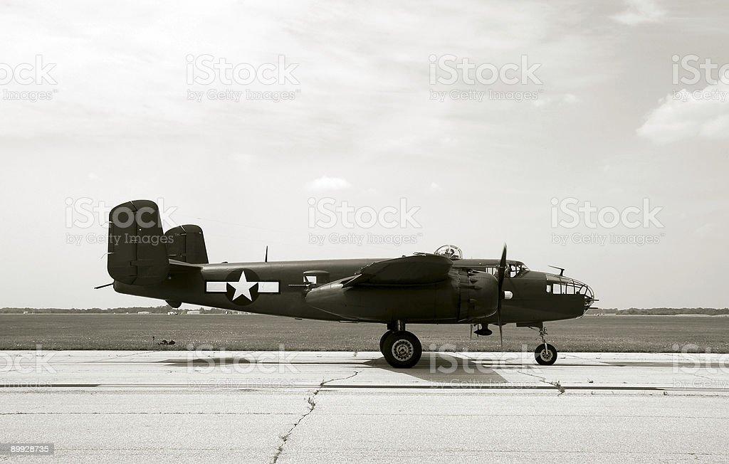 Wartime bomber stock photo