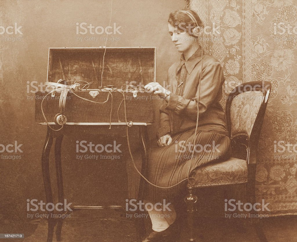 Wartime Morse Code Communications stock photo