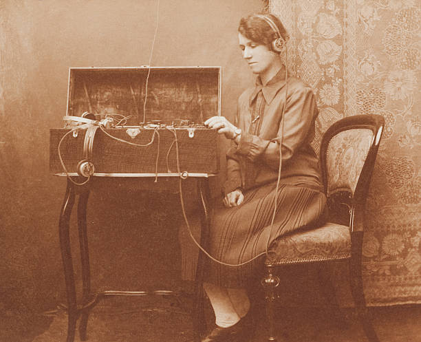 wartime morse code communications - 1920s style stock photos and pictures