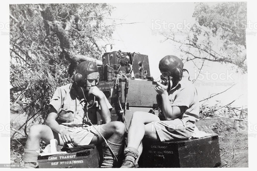 Wartime Radio Communications stock photo