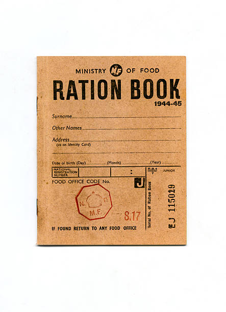 1944-45 Wartime Ration Book stock photo
