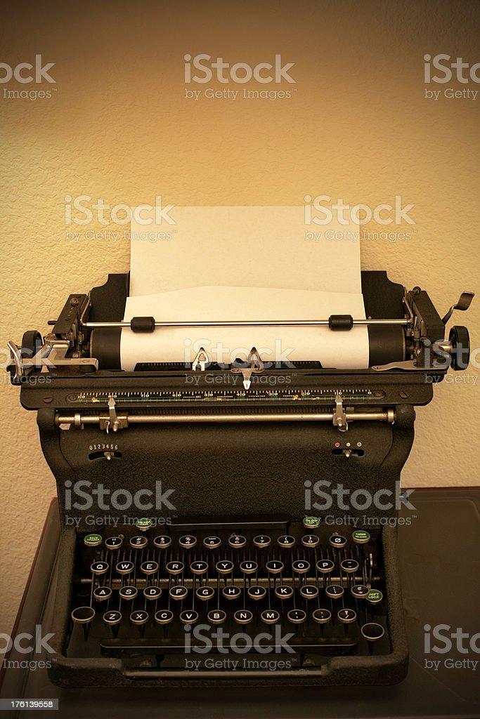 Wartime Typewriter royalty-free stock photo