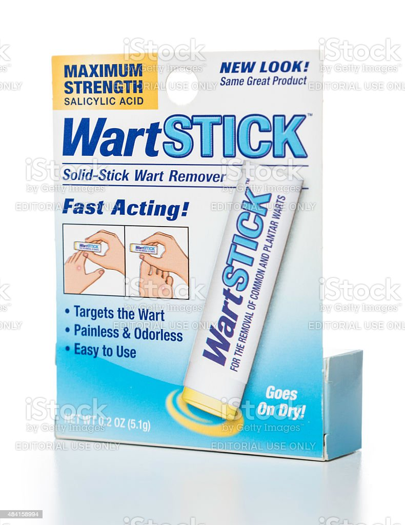 WartStick maximum strength box stock photo