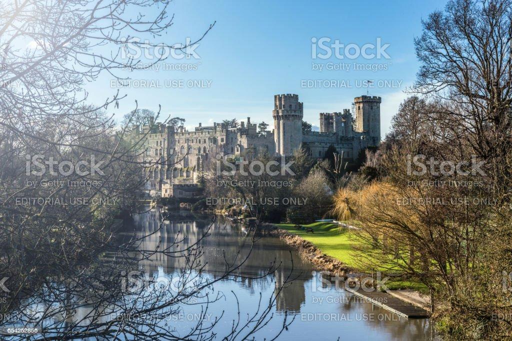 Warwick Castle in Warwickshire in England, UK stock photo