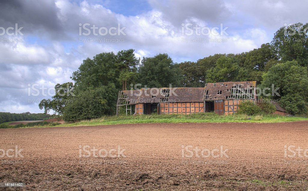 Warwickshire barn stock photo