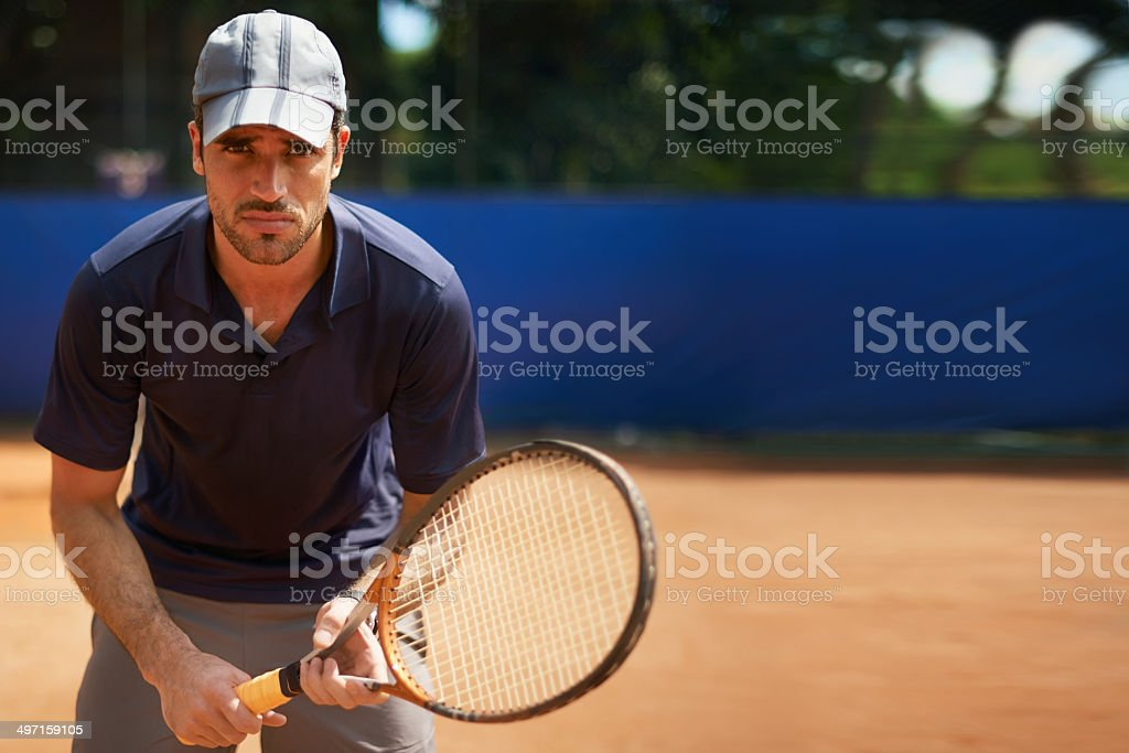 I was born to play tennis royalty-free stock photo