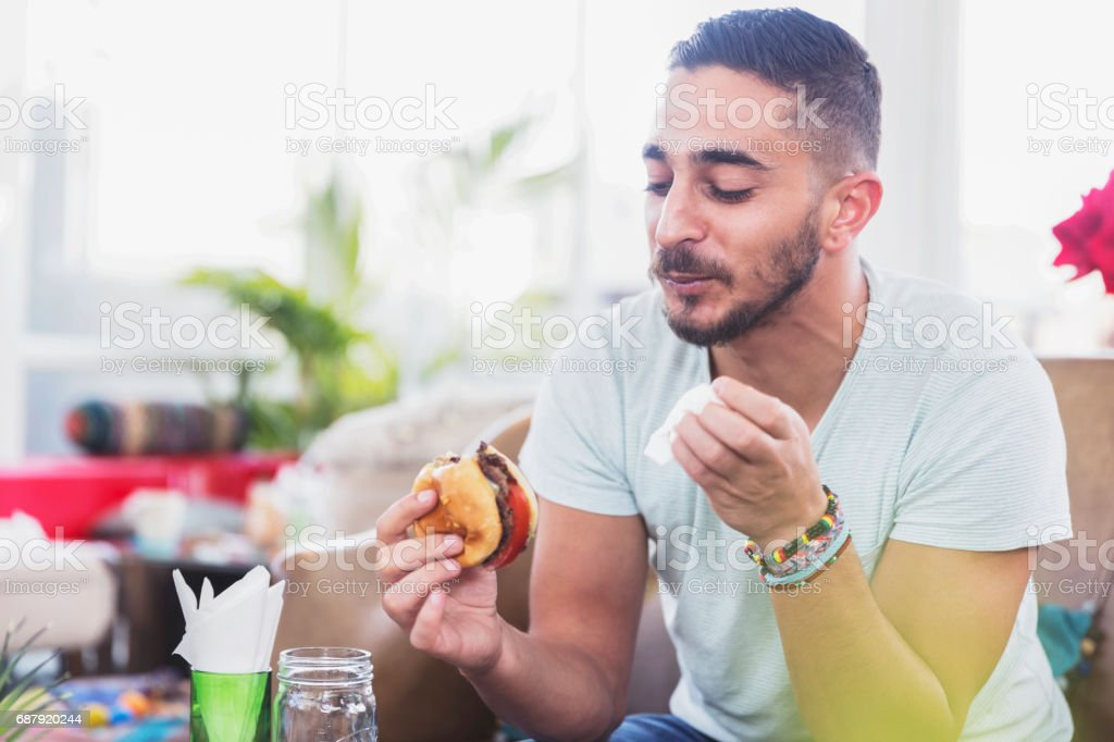 I was really hungry today! stock photo