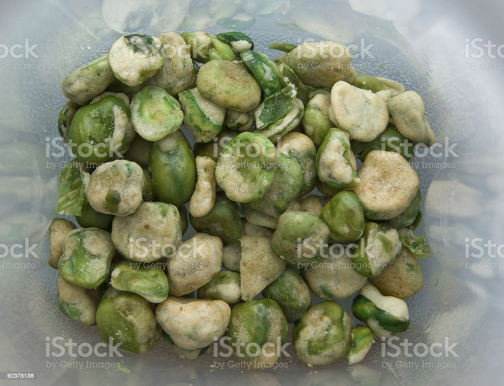 Wasabi green beans royalty-free stock photo