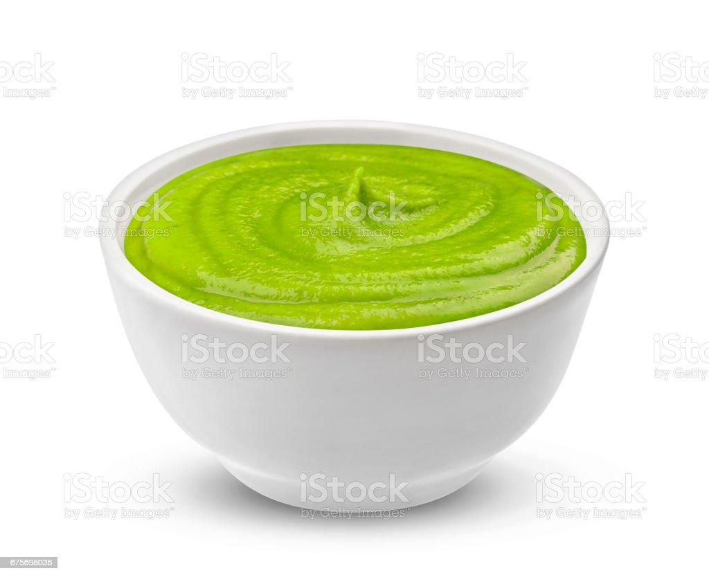 Wasabi sauce isolated on white background stock photo