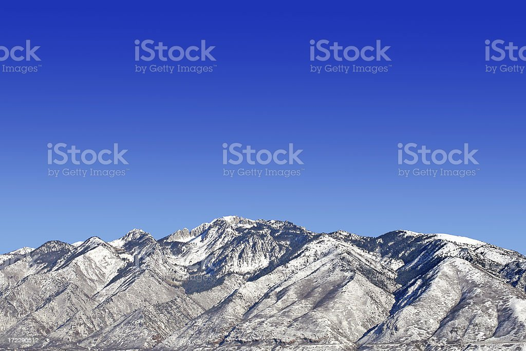Wasatch mountain stock photo