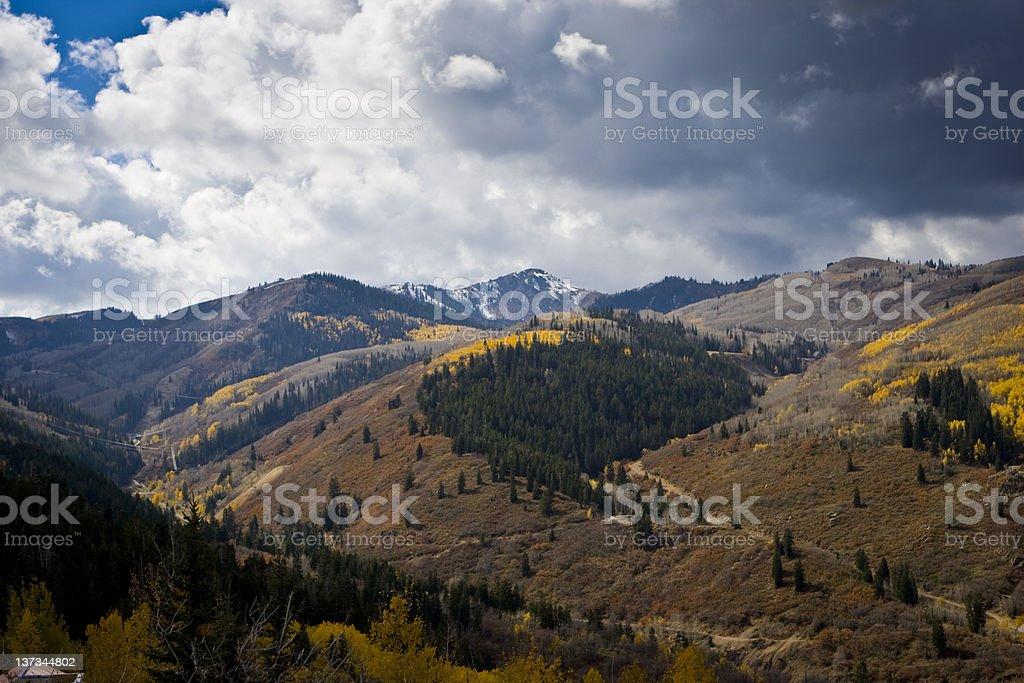Wasatch Mountains in Autumn stock photo