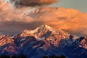 Peak of the wasatch mountain range east of Salt Lake City Mount Nebo