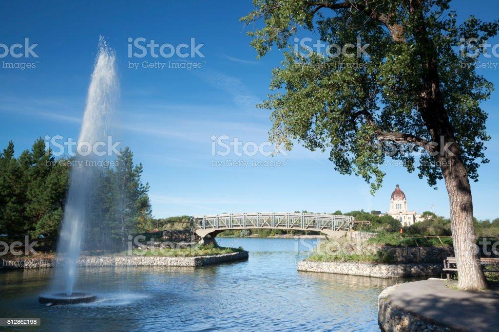 Wascana Centre Park Regina Saskatchewan Canada stock photo