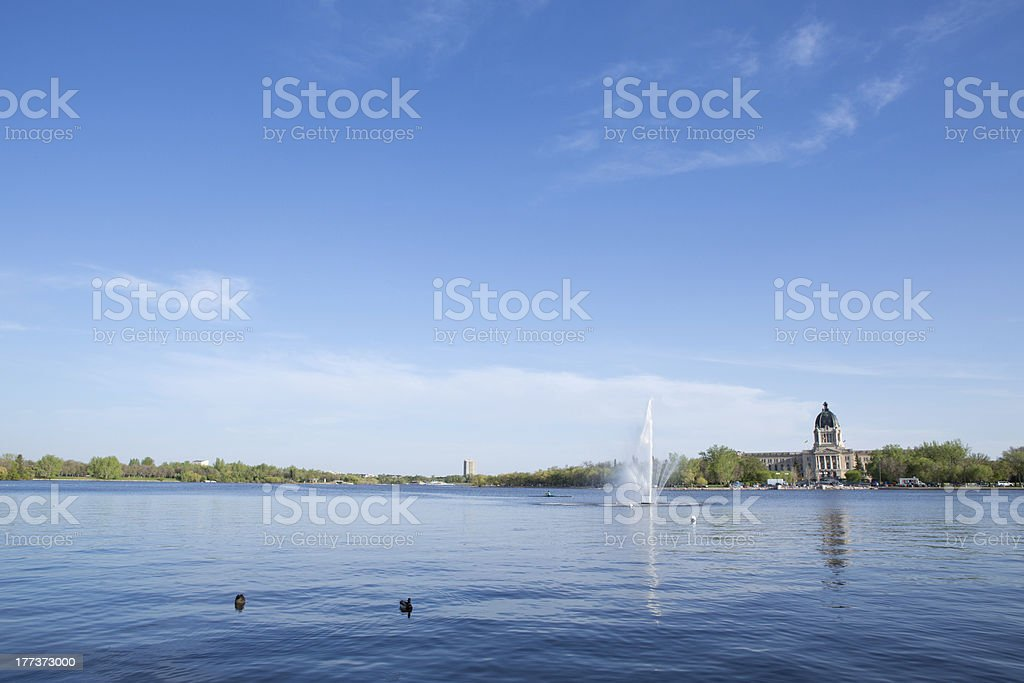 Wascana Lake Regina Saskatchewan stock photo