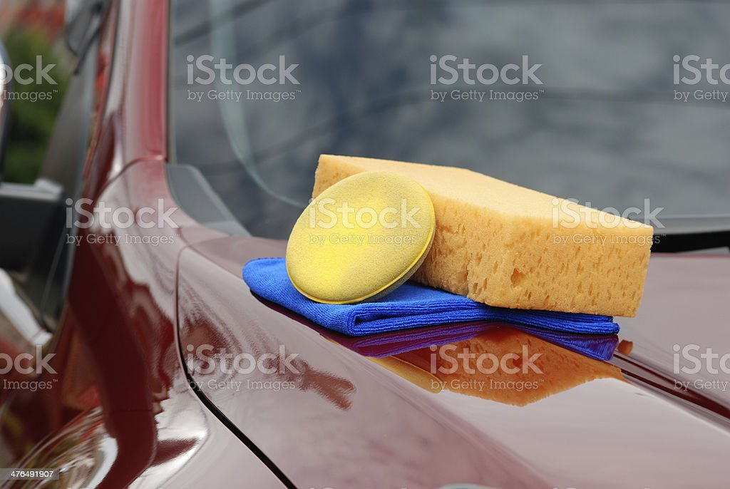 Wash a car royalty-free stock photo