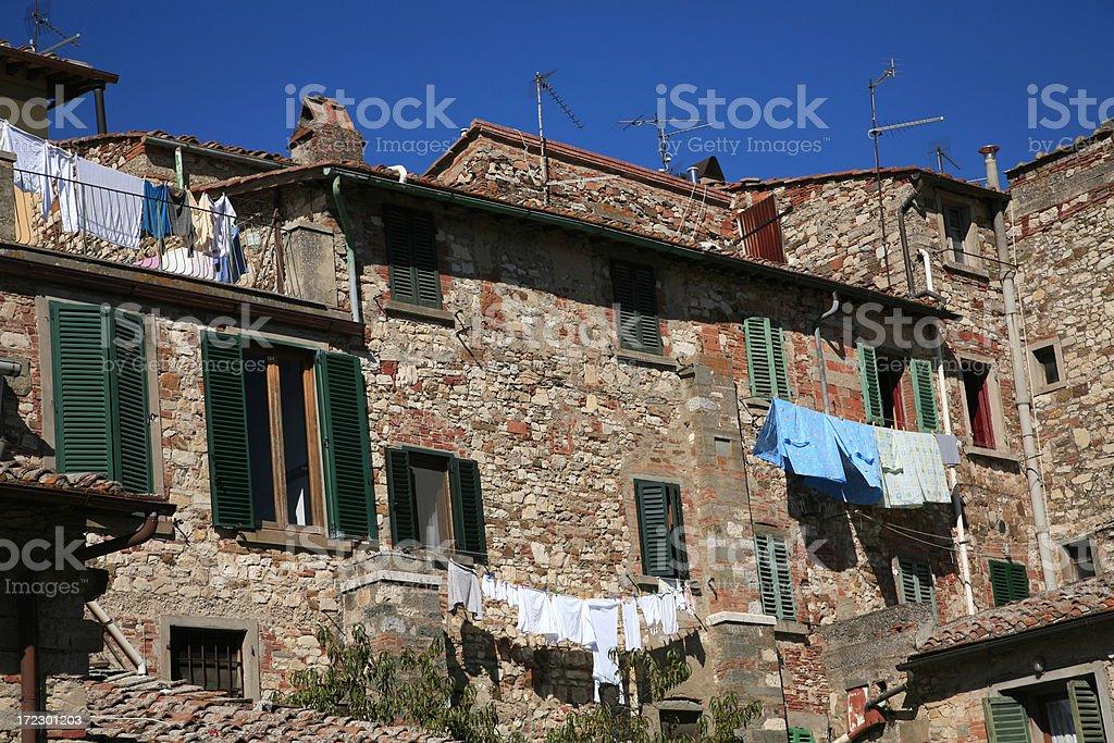 Wash Day In Radda Chianti Italy royalty-free stock photo