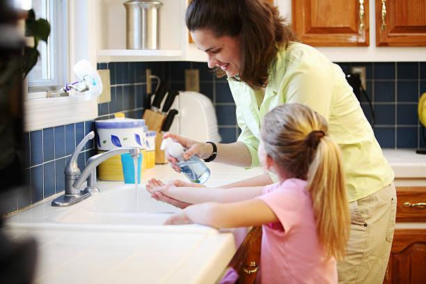 wash hands stock photo