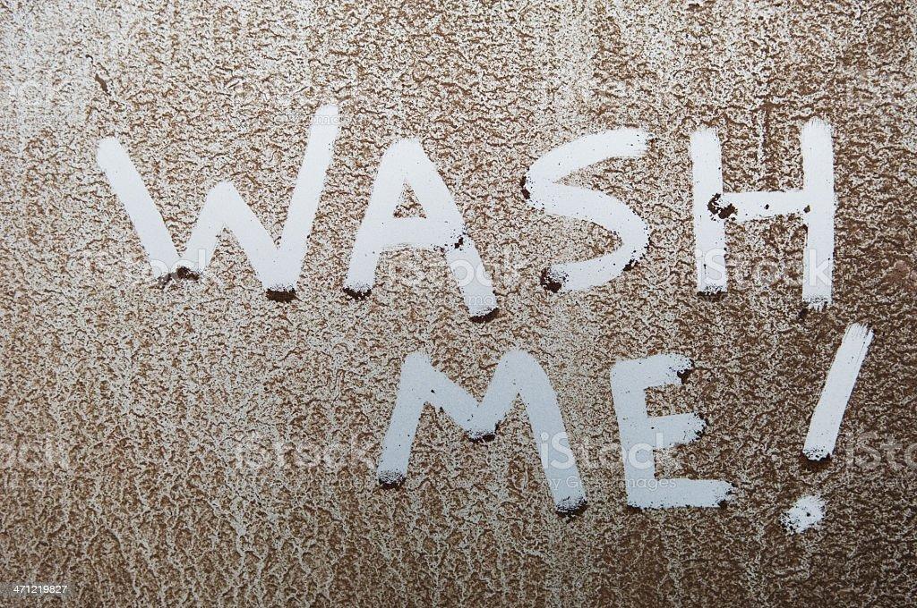 Wash Me! royalty-free stock photo
