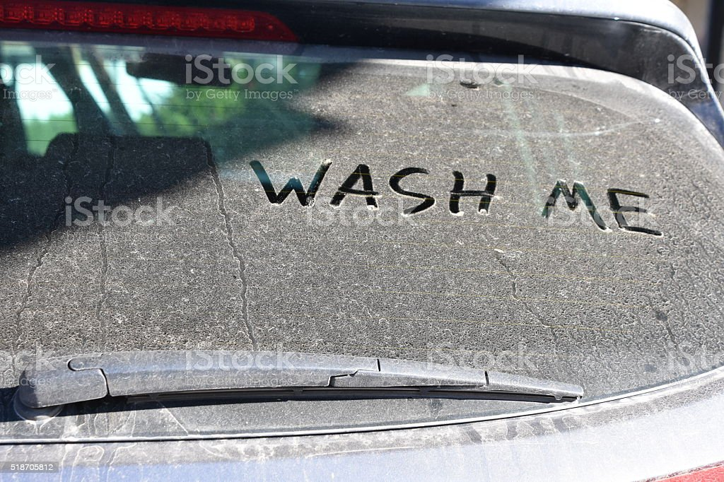 Durham Region Winter Spring Cleaning Of Car That Says Wash Me