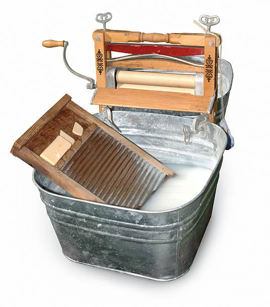 vasca di lavaggio & con bordure a contrasto - bacinella metallica foto e immagini stock