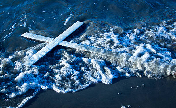 Wash Up White Cross stock photo